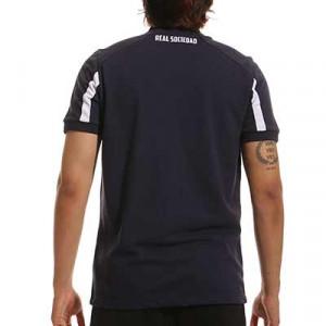 Polo Macron Real Sociedad jugador - Polo Macron de la Real Sociedad - azul marino