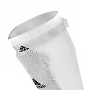 Sujeta medias adidas - Cintas sujeta medias talla única con velcro adidas (2 uds) - Blanco - detalle frontal
