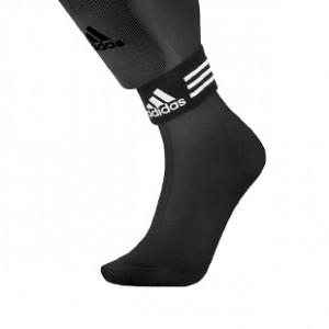 Cinta sujeta espinilleras adidas - Cinta de velcro sujeta espinilleras adidas talla única (2 uds) - Negro - frontal detalle