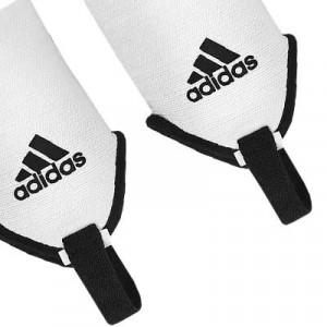 Tobilleras acolchadas adidas - Par de tobilleras contra los impactos adidas - Blanco - detalle