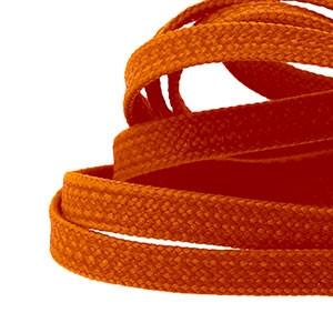 Cordones planos y finos Mr. Lacy Goalies - Cordones con grip para botas fútbol (125 cm de largo x 6 mm de ancho) - Naranja - detalle