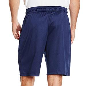 Short Nike Park II Knit - Pantalón corto de poliéster Nike - Azul Marino - trasera