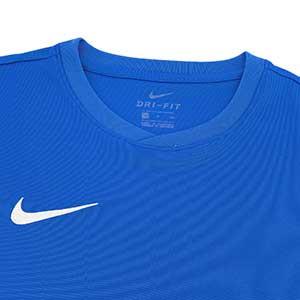 Camiseta entreno Nike Dry Football - Camiseta manga corta de entrenamiento Nike - azul - cuello