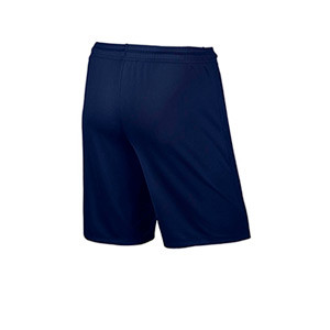 Short Nike Park 2 Knit niño - Pantalón corto de entrenamiento infantil Nike - azul marino - trasera