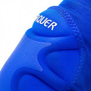 Rodilleras acolchadas Arquer - Par de rodilleras acolchadas Arquer para portero - Azul - detalle textura