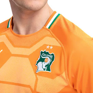 Camiseta Puma Costa de Marfil 2018 2019 - Camiseta Puma primera equipación Costa de Marfil 2018 2019 - naranja - detalle