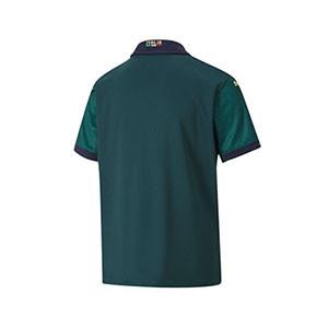Camiseta Puma 3a Italia niño 2019 2020 - Camiseta infantil Puma 3a equipación Italia 2019 2020 - verde oscuro - trasera