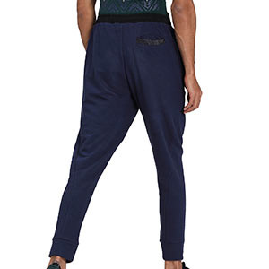 Pantalón Puma Italia Casuals 2020 2021 - Pantalón de algodón Puma selección italiana 2020 2021 - azul marino - trasera