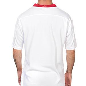 Camiseta Puma 2a AC Milan 2020 2021 - Camiseta segunda equipación Puma AC Milan 2020 2021 - blanca y roja - trasera