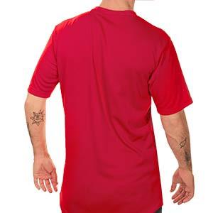 Camiseta Puma AC Milan pre-match 2020 2021 - Camiseta de calentamiento Puma AC Milan 2020 2021 - roja - trasera