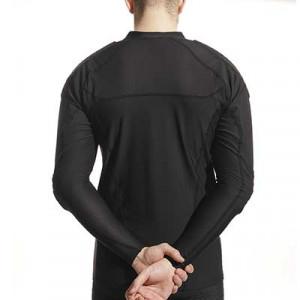 Camiseta larga protección portero McDavid Hex GK - Camiseta de manga larga compresiva portero con protección McDavid - negra