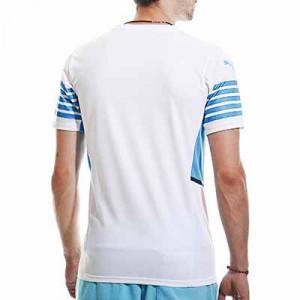 Camiseta Puma Olympique Marsella 2021 2022 - Camiseta primera equipación Puma Olympique de Marsella 2021 2022 - blanca - hover-trasera
