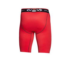 Mallas fútbol McDavid Compression - Mallas fútbol corta compresiva McDavid - rojas - trasera