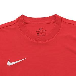 Camiseta Nike Park IV mujer - Camiseta de manga corta de mujer Nike Park IV - roja - detalle cuello