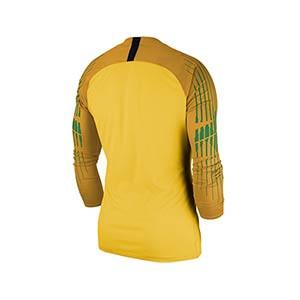 Camiseta portero Nike Gardien II niño - Camiseta portero manga larga infantil Nike - amarilla - trasera