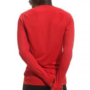 Camiseta interior térmica Nike Dri-Fit Park - Camiseta interior compresiva manga larga Nike - roja - detalle cuello