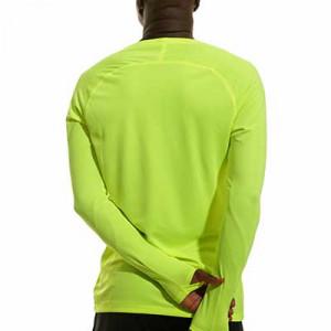 Camiseta interior térmica Nike Dri-Fit Park - Camiseta interior compresiva manga larga Nike - verde lima - trasera