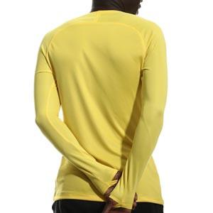 Camiseta interior térmica Nike Dri-Fit Park - Camiseta interior compresiva manga larga Nike - amarilla - trasera