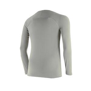 Camiseta interior térmica Nike Dri-Fit Park niño - Camiseta interior compresiva infantil manga larga Nike - gris - trasera