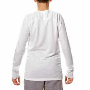 Camiseta interior térmica Nike Dri-Fit Park niño - Camiseta interior compresiva infantil manga larga Nike - blanca - trasera