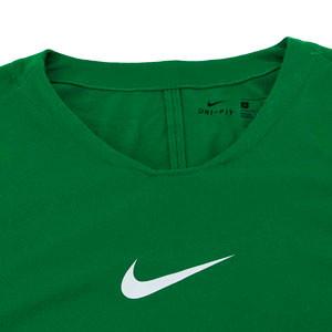 Camiseta interior térmica Nike Dri-Fit Park niño - Camiseta interior compresiva infantil manga larga Nike - verde