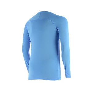 Camiseta interior térmica Nike Dri-Fit Park niño - Camiseta interior compresiva infantil manga larga Nike - azul celeste - trasera