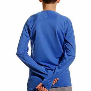 Camiseta interior térmica Nike Dri-Fit Park niño - Camiseta interior compresiva infantil manga larga Nike - azul - trasera