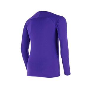 Camiseta interior térmica Nike Dri-Fit Park niño - Camiseta interior compresiva infantil manga larga Nike - morada - trasera