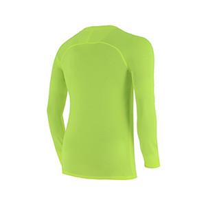 Camiseta interior térmica Nike Dri-Fit Park niño - Camiseta interior compresiva infantil manga larga Nike - verde lima - trasera