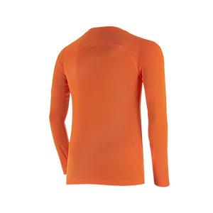 Camiseta interior térmica Nike Dri-Fit Park niño - Camiseta interior compresiva infantil manga larga Nike - naranja - trasera