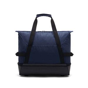 Bolsa de deporte con zapatillero Nike Academy - Bolsa de entrenamiento Nike (51 x 33 x 41) cm - azul marino - trasera