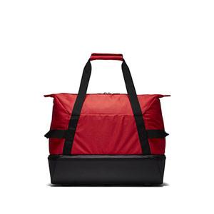 Bolsa de deporte con zapatillero Nike Academy - Bolsa de entrenamiento Nike (51 x 33 x 41) cm - roja - trasera