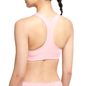 Sujetador Nike mujer Swoosh con relleno - Top deportivo Nike de mujer con relleno para fútbol - rosa