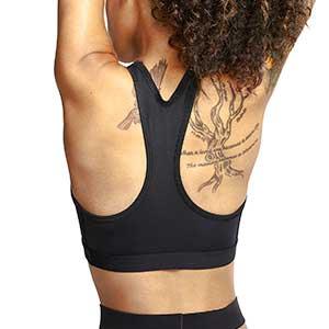 Sujetador Nike Swoosh sin relleno - Top deportivo de impacto medio Nike de mujer para fútbol - negro
