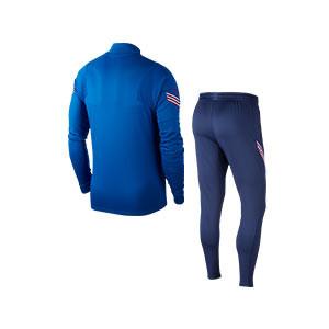 Chándal Nike Inglaterra 2020 2021 Strike - Chándal de paseo Nike de la selección inglesa 2020 2021 - azul - trasera