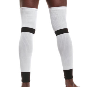 Manguitos Nike Matchfit - Manguitos de portero compresivos antiabrasión Nike - blancos - frontal