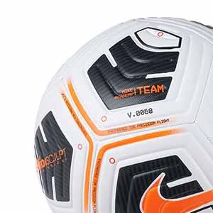 Balón Nike Academy Team IMS talla 3 - Balón de fútbol infantil Nike Team talla 3 - blanco y naranja - trasera