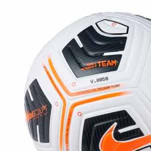 Balón Nike Academy Team IMS talla 5 - Balón de fútbol Nike Team talla 5 - blanco y naranja - trasera