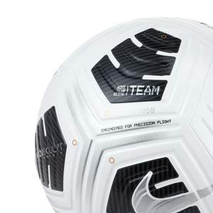 Balón Nike Club Elite Team talla 5 - Balón de fútbol profesional Nike en talla 5 - blanco y negro - detalle