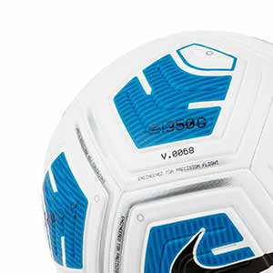 Balón Nike Strike Team 350g talla 5 - Balón de fútbol para niño en talla 5 con peso reducido - blanco y azul turquesa - detalle