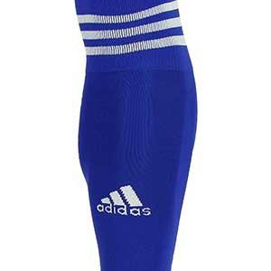 Medias sin pie adidas Team 18 - Medias de fútbol adidas Team 18 sin pie - azules - frontal