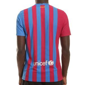 Camiseta Nike Barcelona 2021 2022 Dri-Fit ADV Match - Camiseta auténtica primera equipación Nike del FC Barcelona 2021 2022 - azulgrana - completa trasera