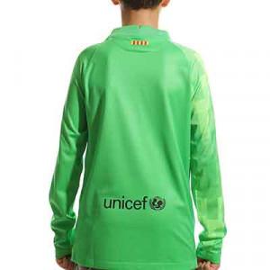 Camiseta Nike Barcelona niño portero 2021 2022 Stadium - Camiseta de manga larga infantil de portero Nike del FC Barcelona 2021 2022 - verde