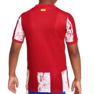 Camiseta Nike Atlético 2021 2022 niño Dri-Fit Stadium - Camiseta primera equipación infantil Nike del Atlético Madrid 2021 2022 - roja y blanca