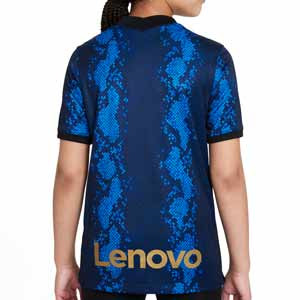Camiseta Nike Inter 2021 2022 niño Dri-Fit Stadium - Camiseta primera equipación infantil Nike del Inter de Milán 2021 2022 - azul y negra