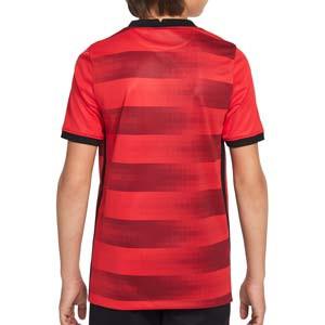 Camiseta Nike 2a Eintracht Frankfurt niño 21 22 Stadium - Camiseta infantil segunda equipación Nike del Eintracht de Frankfurt 2021 2022 - roja