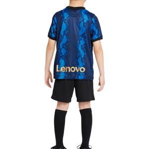 Equipación Nike Inter niño 3 - 8 años 2021 2022 - Conjunto infantil de 3 a 8 años Nike primera equipación Inter de Milán 2021 2022 - azul y negro