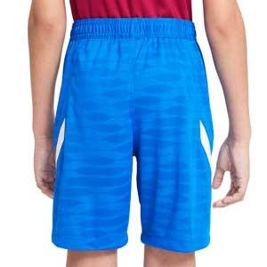 Short Nike Barcelona entrenamiento niño Dri-Fit Strike - Pantalón corto de entrenamiento infantil Nike del FC Barcelona - azul - completa trasera