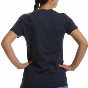 Camiseta Nike Barcelona mujer Swoosh Club - Camiseta de manga corta de algodón para mujer Nike del FC Barcelona - azul marino