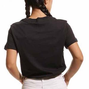 Camiseta Nike PSG mujer Swoosh Club - Camiseta de manga corta de algodón para mujer Nike del Paris Saint-Germain - negra
